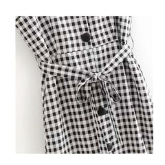 gingham check sundress