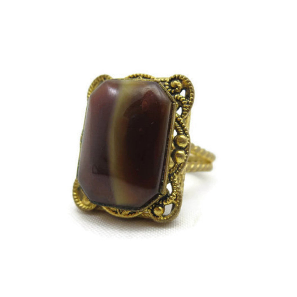 Vintage 1960's adjustable statement ring.