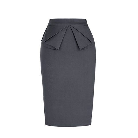 peplum skirt in slate