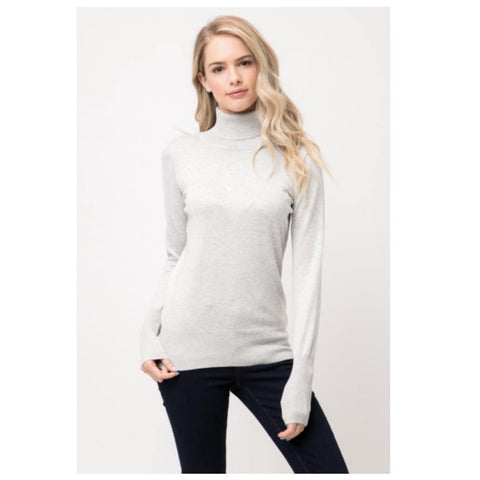 trademark turtleneck in pale gray