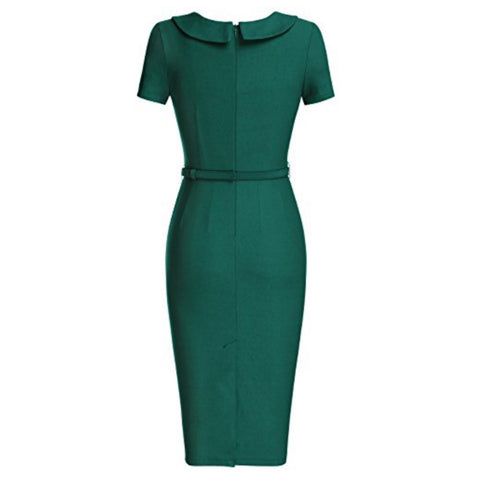 pretty pencil dress in spruce