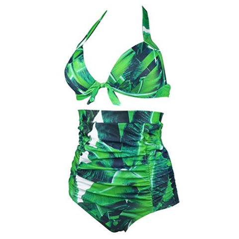 tropical palm bathing suit