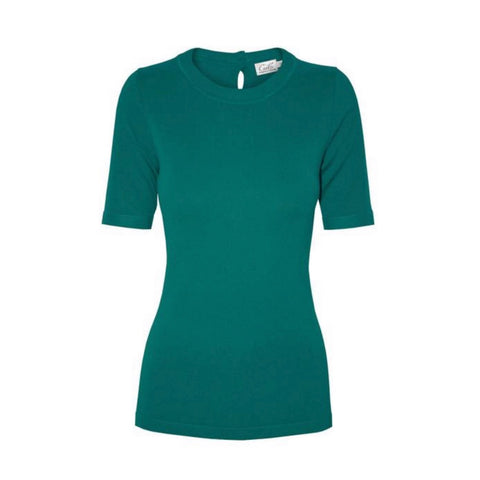 tierney top in light teal