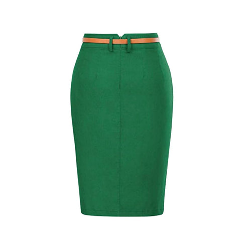 essential pencil skirt in pine
