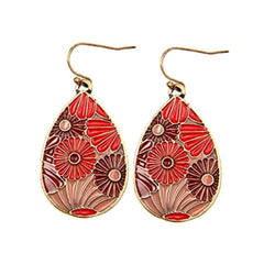 Lovely art nouveau inspired coral dangle earrings.