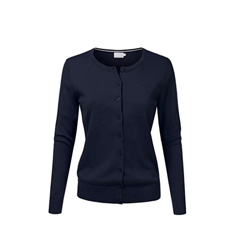 curator cardigan in navy