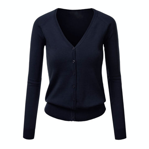 copy editor cardigan in navy