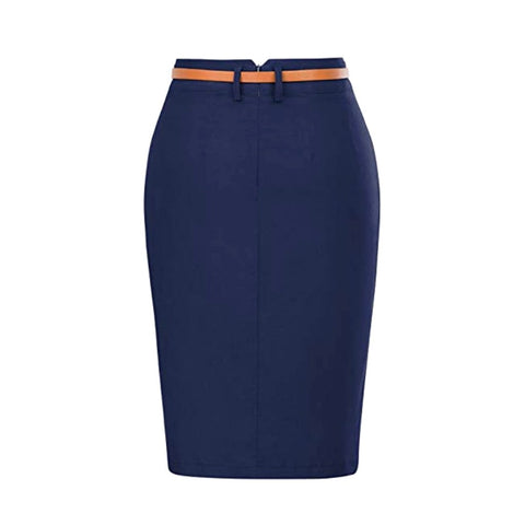 essential pencil skirt in navy