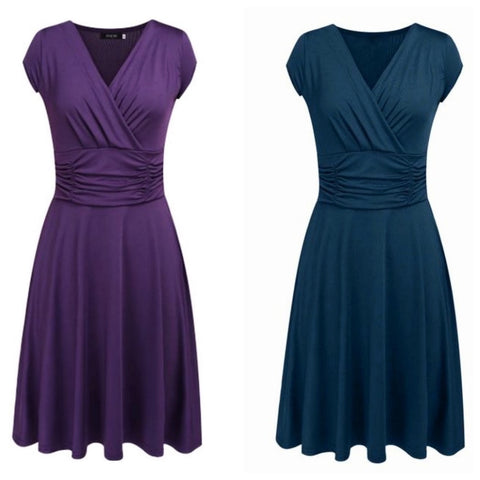 oberlin dress in plum