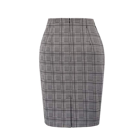 editorial skirt in plaid