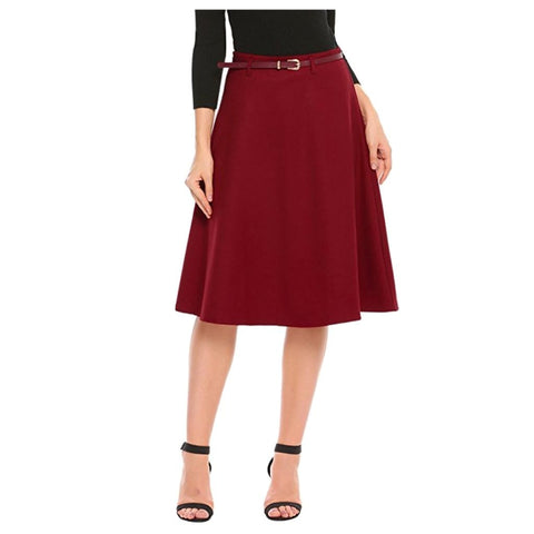 cinephile skirt in ruby
