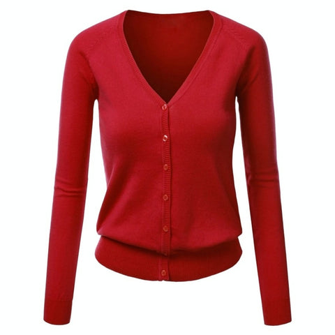 copy editor cardigan in red