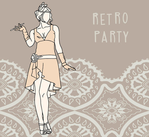retro party gift card