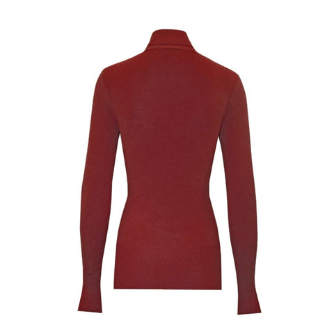 trademark turtleneck in ruby