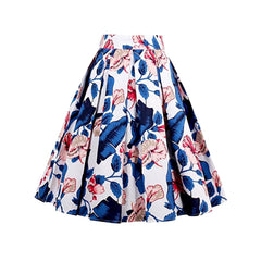 Lovely 1950's-style floral pleated a-line skirt.