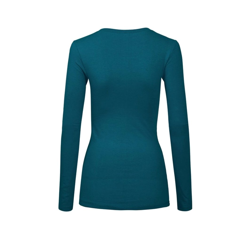 Teal blue cotton long-sleeved shirt.