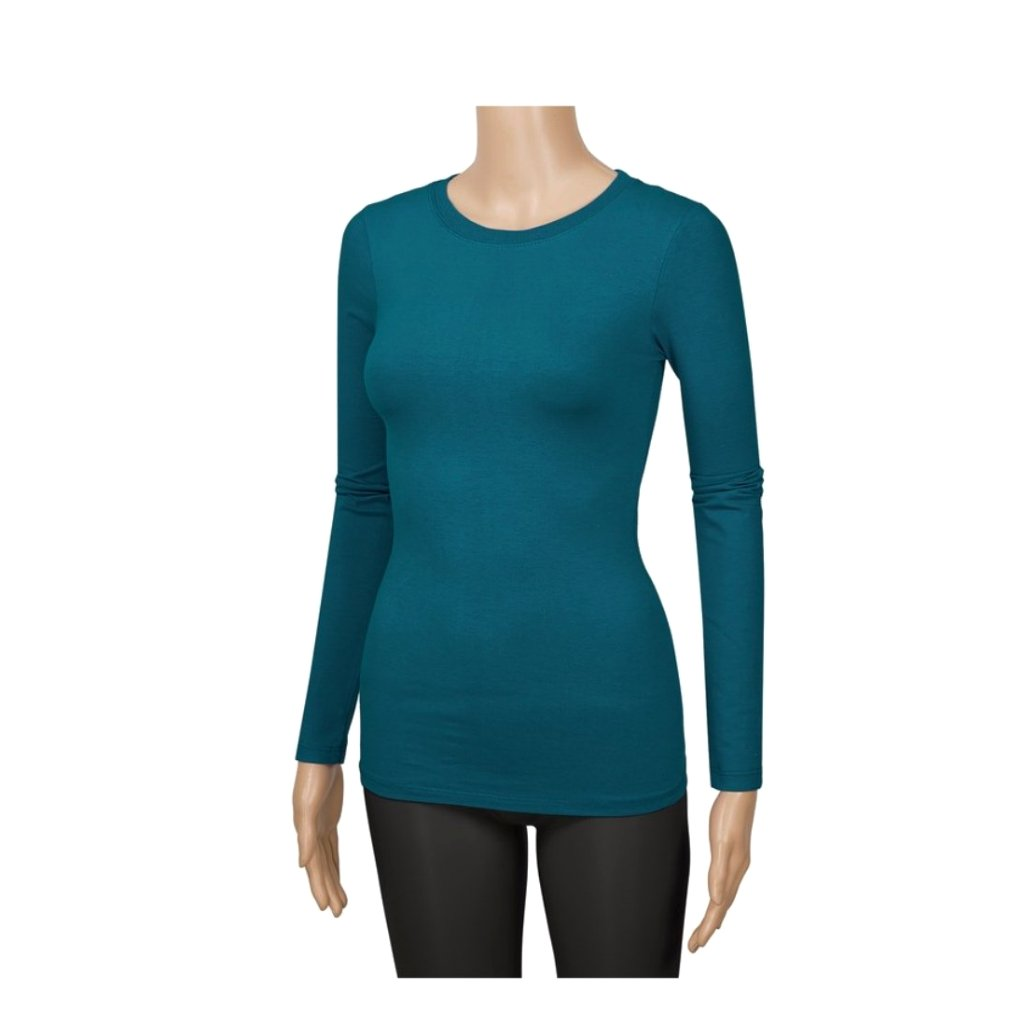 essential top in teal