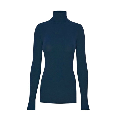 trademark turtleneck in teal