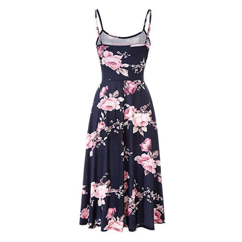 tea rose midi dress