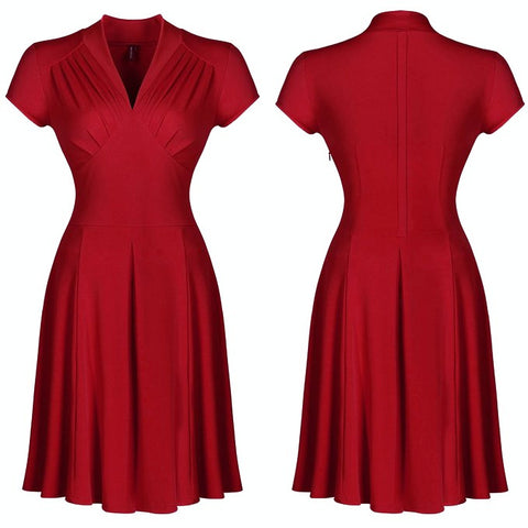 vespertine dress in crimson
