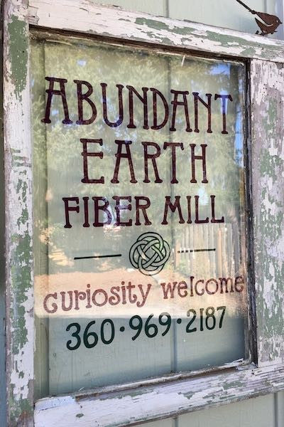 Abundant Earth Fiber Sign - Curiosity Welcome