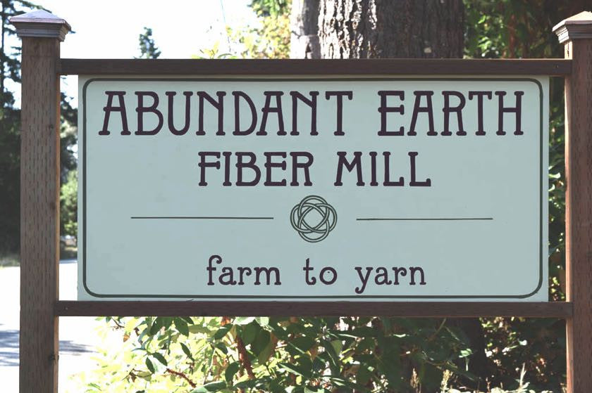 Abundant Earth Fiber Street Sign