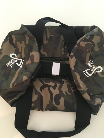 Jungle Camo Barrel Bag