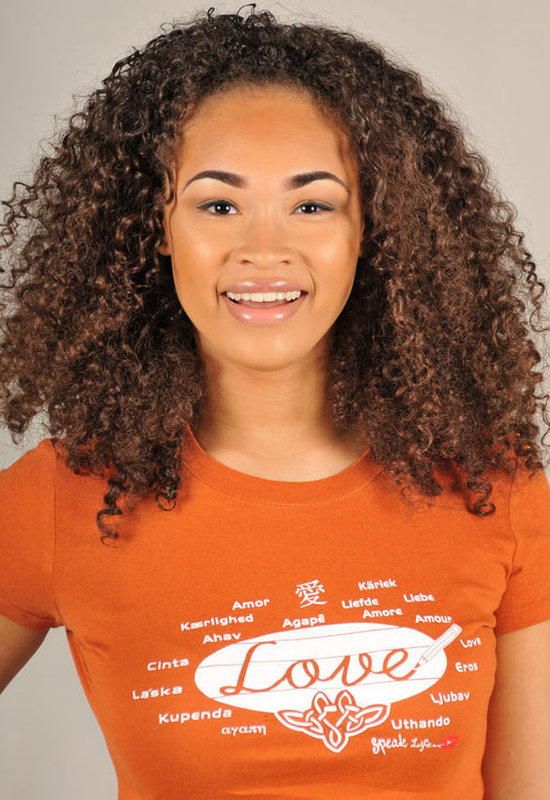 Love In Different Languages Women's Speak Life T-Shirt