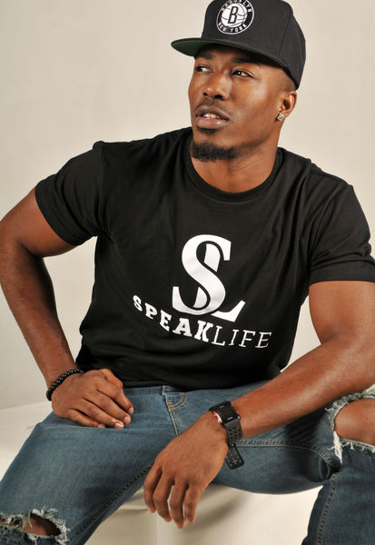 Men's Speak Life Black T-Shirt