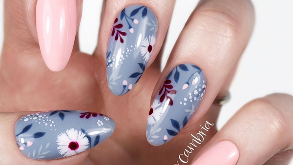 Recreate This Fall Floral Design By @nailsbycambia