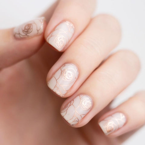 Lily and Fox Nail Wrap - Rose Gold