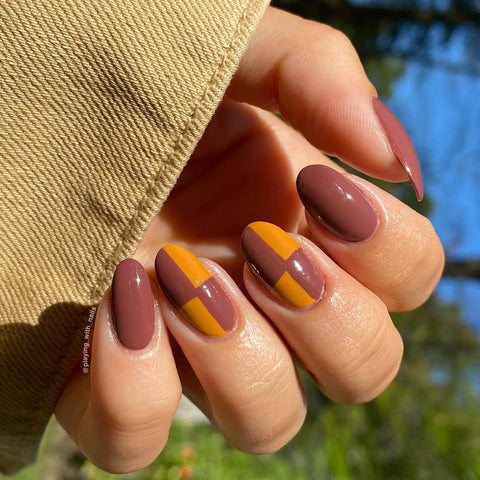 Fall Nail Art by @playing_with_nails