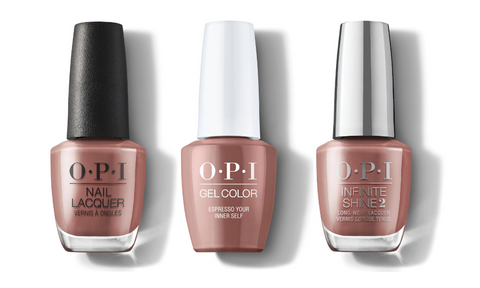 OPI Nail Lacquer, GelColor & Infinite Shine - Espresso Your Inner Self