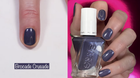 Essie Gel Couture Brocade Crusade - swatch by @livwithbiv