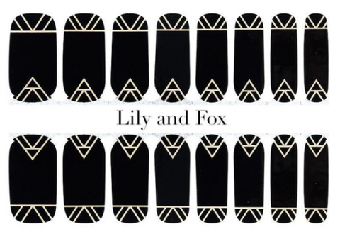 Lily and Fox Nail Wrap - Midnight Conspiracy