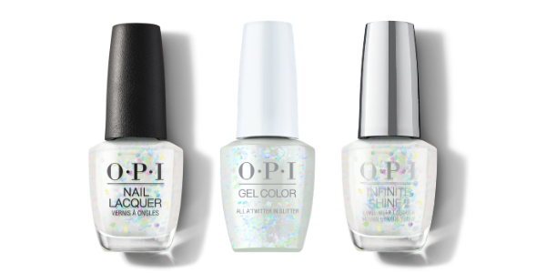 OPI Nail Lacquer, GelColor & Infinite Shine - All A'Twitter And Glitter