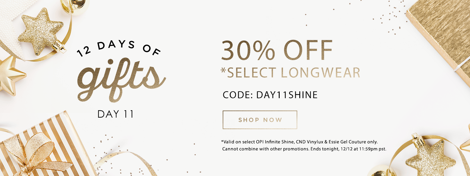 12 Days of Gifts: Day 11 - 30% Off Select Longwear