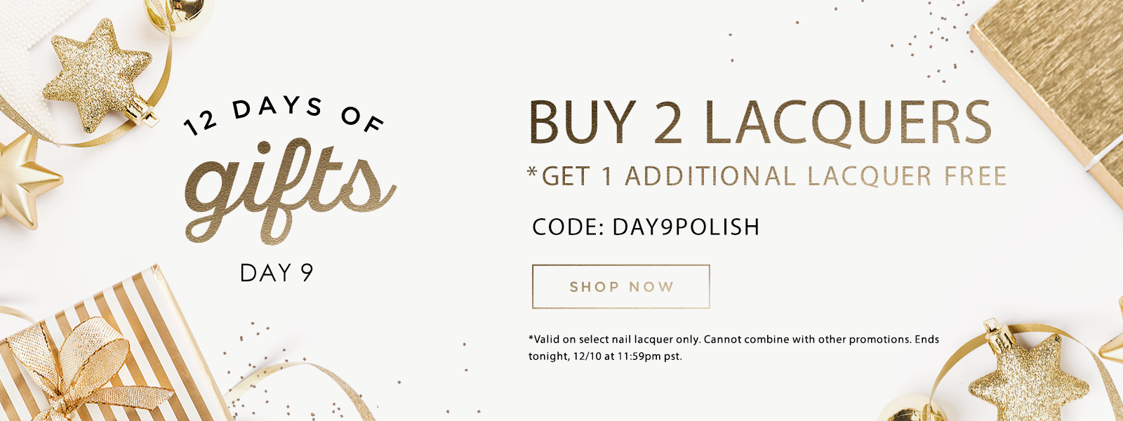 12 Days of Gifts: Day 9 - Buy 2 Lacquers, Get An Additional 1 Free