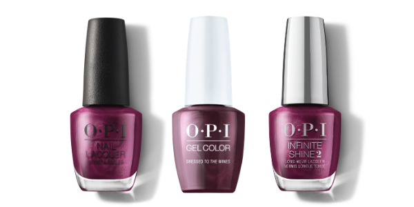 OPI Nail Lacquer, GelColor & Infinite Shine - Dressed to the Wines