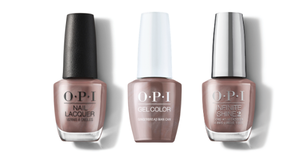 OPI Nail Lacquer, GelColor & Infinite Shine - Gingerbread Man Can