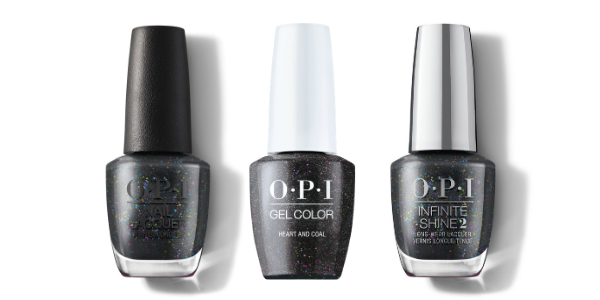 OPI Nail Lacquer, GelColor & Infinite Shine - Heart And Coal