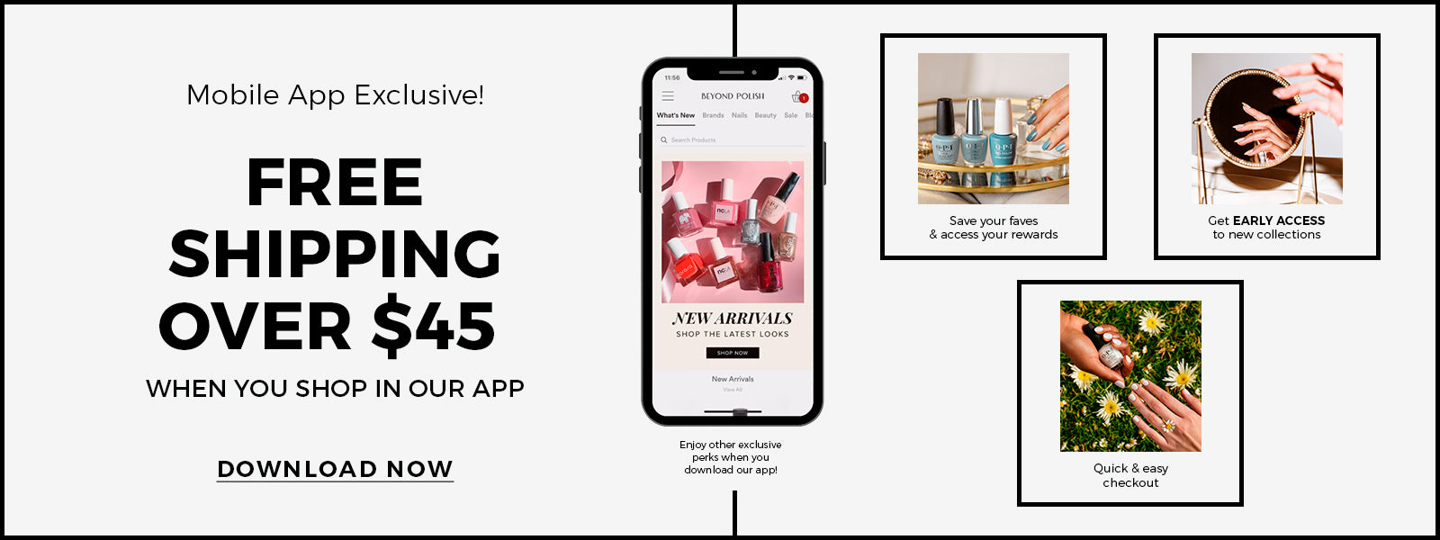 Get Free Shipping Over $45 When You Shop In Our Mobile App!