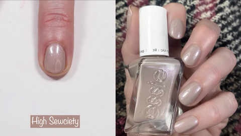Essie Gel Couture High Sewciety - swatch by @livwithbiv