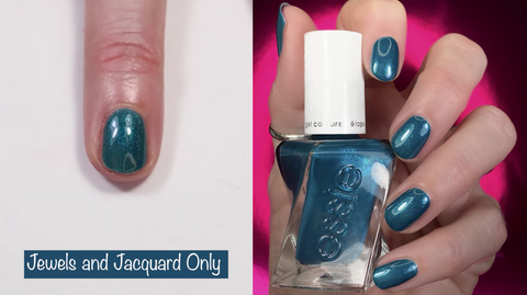 Essie Gel Couture Jewels and Jacquard Only - swatch by @livwithbiv