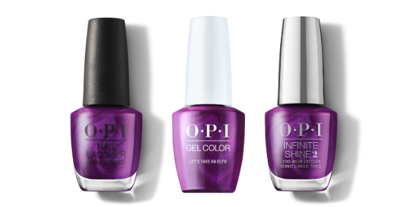 OPI Nail Lacquer, GelColor & Infinite Shine - Let's Take An Elfie
