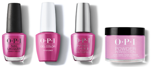 OPI Nail Lacquer, GelColor, Infinite Shine & Powder Perfection - 7th & Flower
