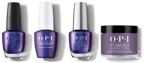 OPI Nail Lacquer, GelColor, Infinite Shine & Powder Perfection - Abstract After Dark