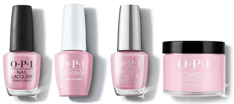 OPI Nail Lacquer, GelColor, Infinite Shine & Powder Perfection - (P)ink on Canvas