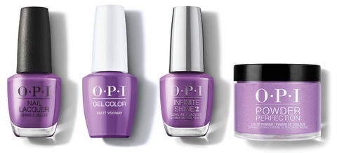 OPI Nail Lacquer, GelColor, Infinite Shine & Powder Perfection - Violet Visionary