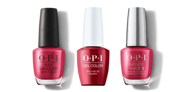 OPI Nail Lacquer, GelColor & Infinite Shine - Red-y For The Holidays